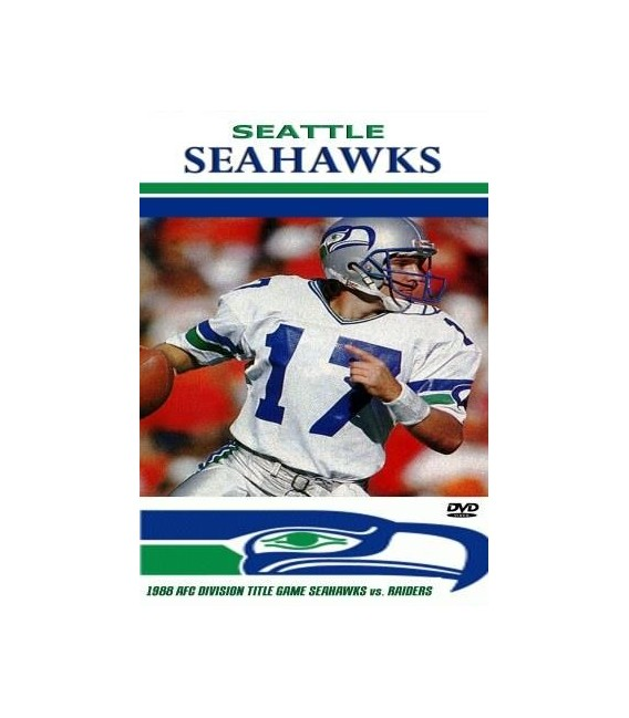 Seattle Seahawks vs Oakland Raiders 1988 Division Title Game DVD