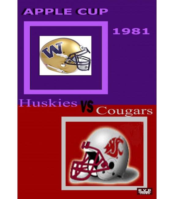 1981 Washington Huskies vs Washington Cougars Football Apple Cup DVD