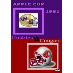 1981 Washington Huskies vs Washington Cougars Football Apple Cup DVD