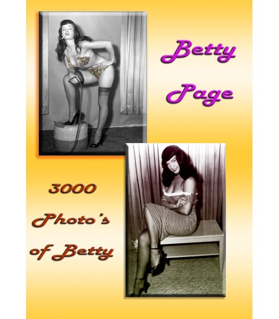 3000 Bettie Betty Page photos Color/Black & White on CD