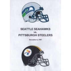SEATTLE SEAHAWKS AT PITTSBURGH STEELERS Dec 1987 DVD