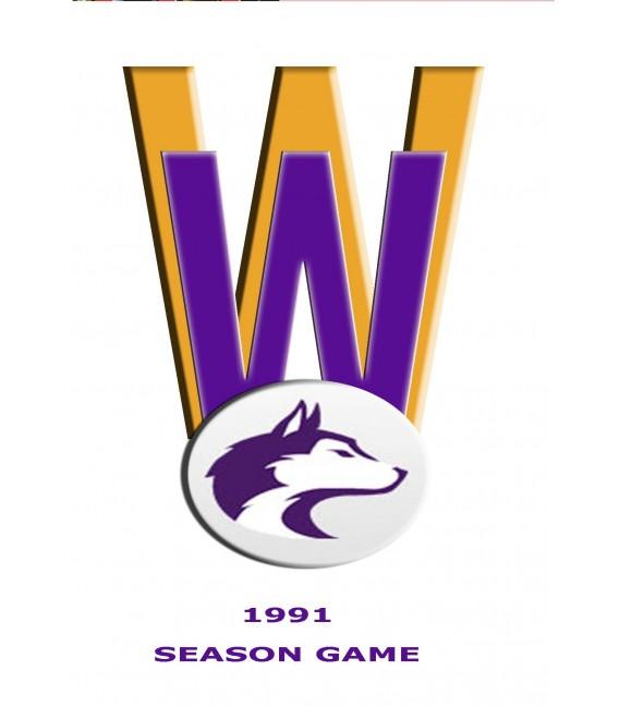 1991 season game Washington Huskies vs Nebraska