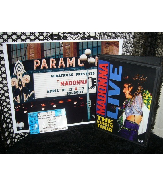 MADONNA'S FIRST CONCERT EVER Theater Ticket, Photo, and DVD
