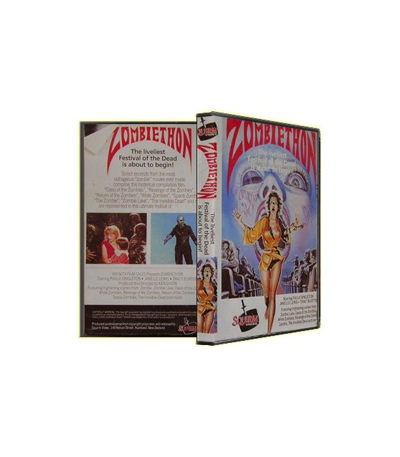 ZOMBIETHON - RARE 80S HORROR COMPILATION ON DVD!