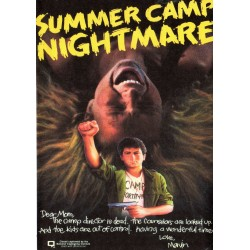 Summer Camp Nightmare DVD '80s Teen Exploitation Film