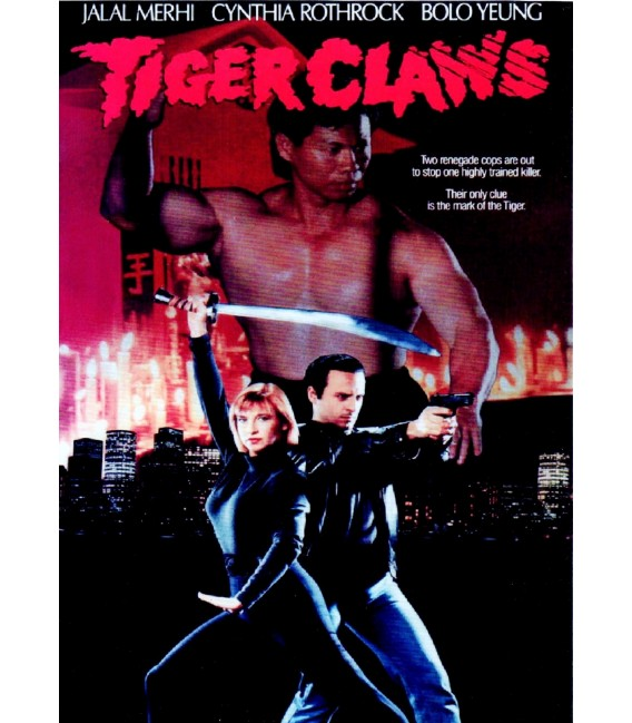 Tiger Claws DVD starring Cynthia Rothrock