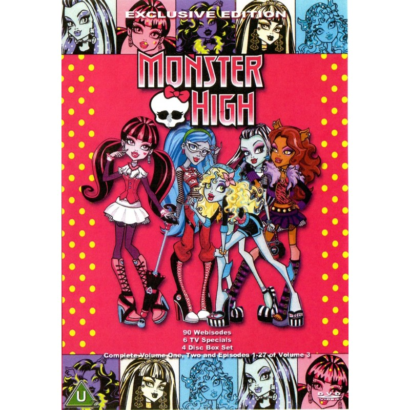 monster high vol 1 2 and 3 on a 4 dvd set media collectibles