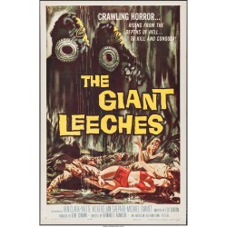 "The Giant Leeches (American International, 1959). One Sheet 27"" X 41"" Very Fine"