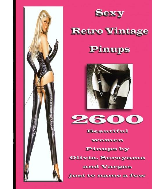 2600 Sexy Vintage Retro Pin-up Photos on CD-Rom