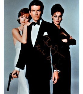"Signed Famke Jassen ""Goldeneye"" photograph with Pierce Brosnan ""James Bond"""