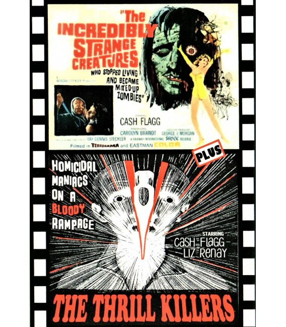 Incredibily Strange Creatures Who Stopped Living And Became Mixed-up Zombies & The Thrill Killers Double Features on  DVD