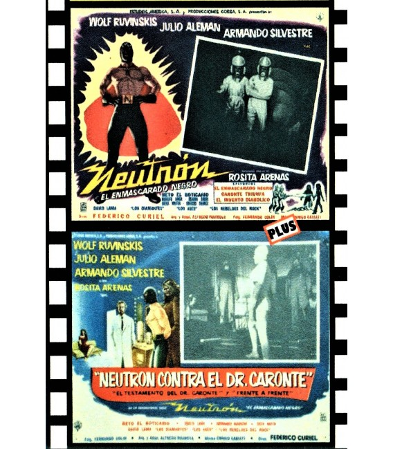 NEUTRON MAN Double feature - BLACK MASK and AMAZING DR. CARONTE