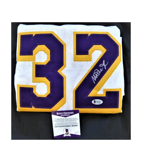 SIGNED Magic Johnson Authentic White Lakers Jersey