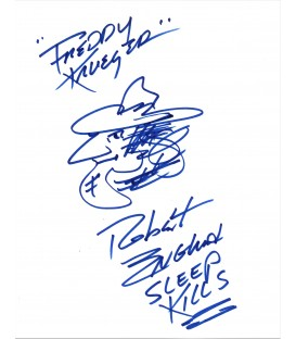 "SIGNED Drawing by Robert Englund ""Freddy Krueger"" himself"