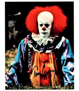 "SIGNED Tim Curry ""Pennywise"" clown Photo from Stephen Kings classic IT"