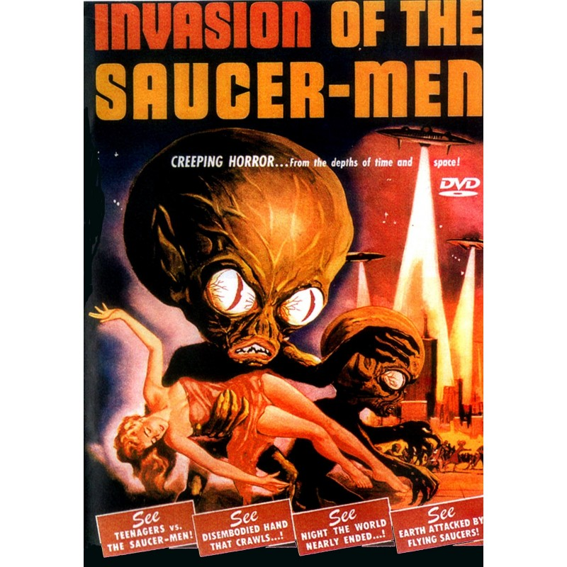 Really. invasion of the saucer men movie question
