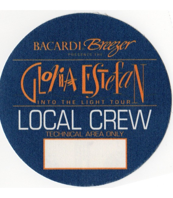"Gloria Estefan ""Into The Light"" crew backstage pass"