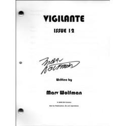Vigilante comic script signed by Marv Wolfman