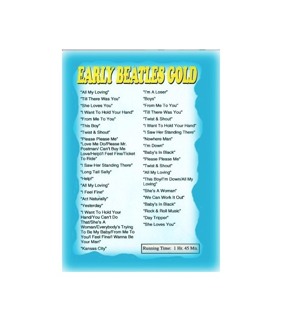 Beatles Early Gold dvd