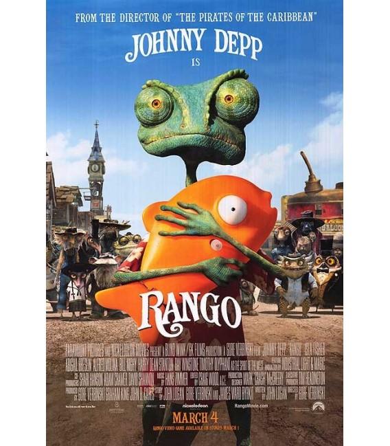 rango starring johnny depp mini movie poster media