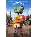 Rango starring Johnny Depp mini movie poster