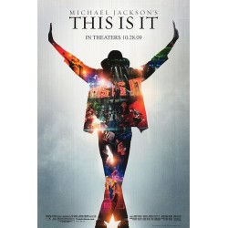 Michael Jackson's This Is It advance glossy mini theater poster