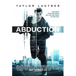 Abduction starring Taylor Lautner advance movie poster