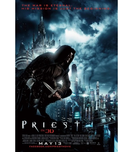 Priest (2011) rolled mini movie poster