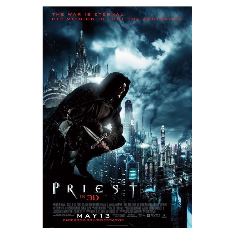 Priest 2011 Rolled Mini Movie Poster Media Collectibles