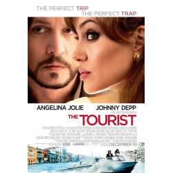 The Tourist starring Depp and Jolie mini movie poster