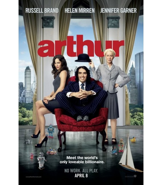 Arthur (2011) starring Russell Brand mini movie poster