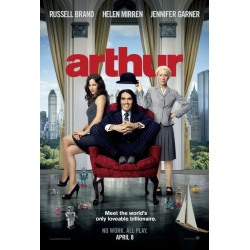 Arthur (2011) starring Russell Brand mini movie poster