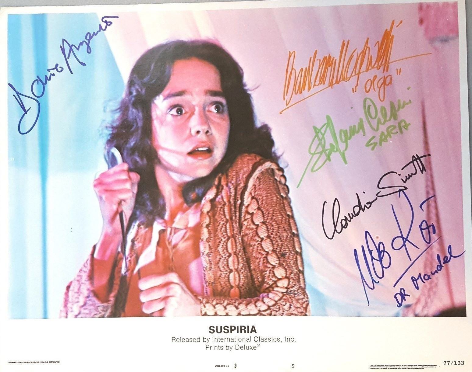 Signed Movie Lobby Cards
